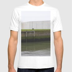 By the water White MEDIUM Mens Fitted Tee