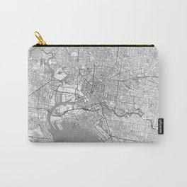 Melbourne Map Line Carry-All Pouch