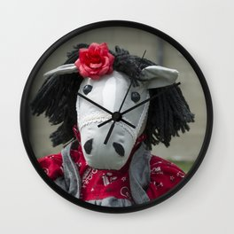 Little Horse on the Prairie Wall Clock