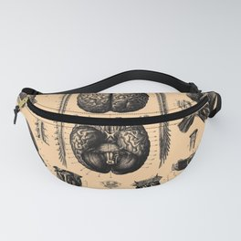 Iconographic Encyclopedia of Science, Literature and Art (1851) - The Human Nervous System 1 Fanny Pack