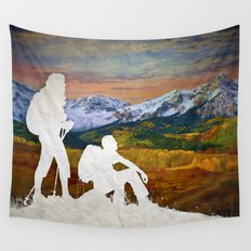 Autumn Hike Wall Tapestry