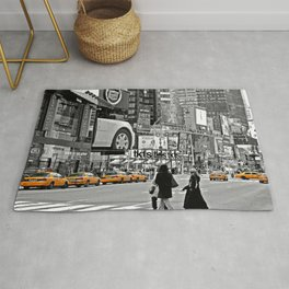 NYC - Yellow Cabs - Times Square Rug