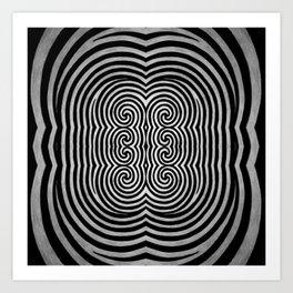 Cronky Acid Black and White Art Print