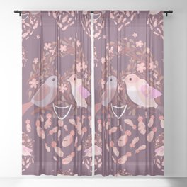 Love is in the air Spring Birds 01 Sheer Curtain