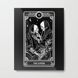 The Lovers Skeleton Metal Print