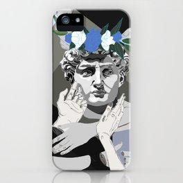 Blue David iPhone Case