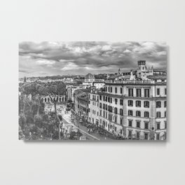 Rome Aerial Cityscape View From Campidoglio Terrace Metal Print