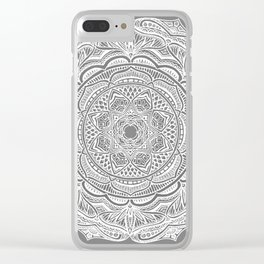 Dedication to Lucy (gray) Clear iPhone Case
