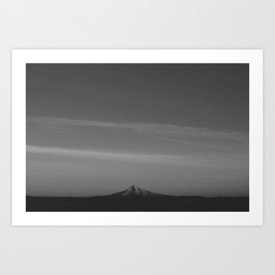 Monochrome Mt. Hood Art Print