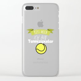 Kiss me I'm a tennis player Clear iPhone Case