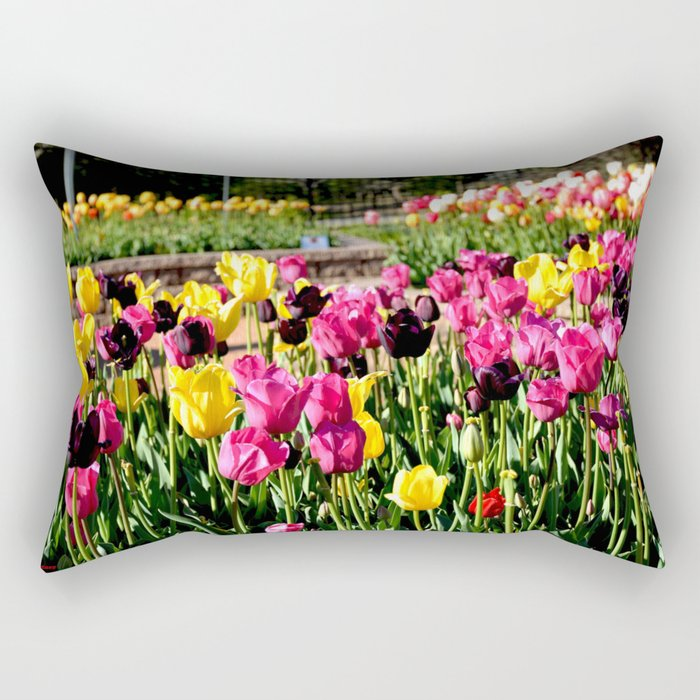 Muscogee (Creek) Nation - Honor Heights Park Azalea Festival, No. 11 of 12 Rectangular Pillow