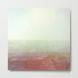 Abstract pastel mint green pink red summer nature landscape Metal Print