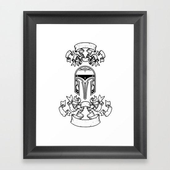 MED Framed Art Print