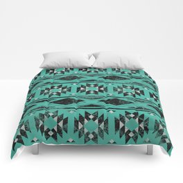 Ancient Realms (Teal) Comforters