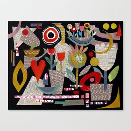 'night garden ...' Canvas Print