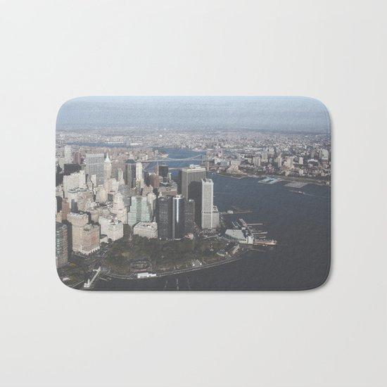 NYC Downtown Aerial Bath Mat