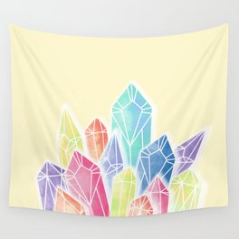 Crystals Yellow Wall Tapestry