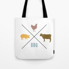 BBQ Hipster Logo Tote Bag