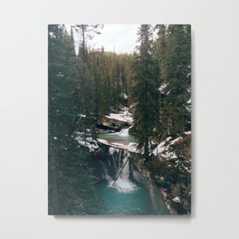 Johnston Canyon Falls Metal Print