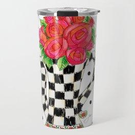 Teapot Roses Travel Mug