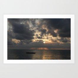 Jambiani Sunrise Art Print