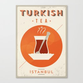 Vintage Turkish Tea Poster Canvas Print