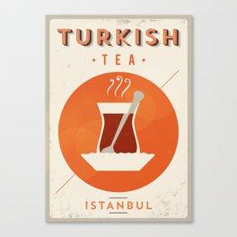 Vintage Turkish Tea Poster Canvas Print