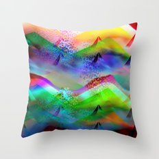 Ocean-Race  no11 Throw Pillow