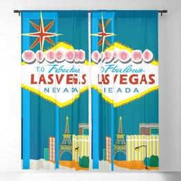 Las Vegas, Nevada - Skyline Illustration by Loose Petals Blackout Curtain