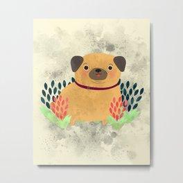 Pug the Pug Metal Print