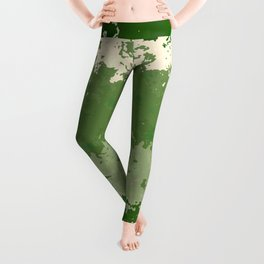 Tones of Green Abstract Lines Leggings