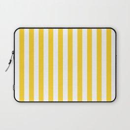 Large Taxi Yellow and White Cabana Stripe Laptop Sleeve