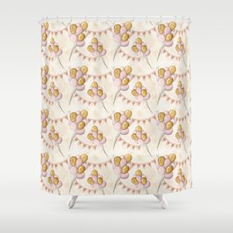 Birthday Balloons Pattern Shower Curtain