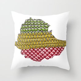 Patterns on Ethiopia Throw Pillow