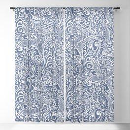 Hawaiian Tribal Pattern III Sheer Curtain