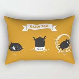 The Daily Tail Hamster Rectangular Pillow
