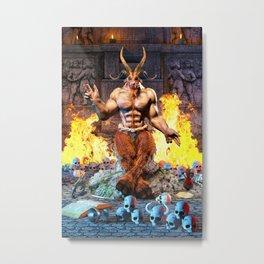 Sabbatic Goat Satanic Baphomet Metal Print