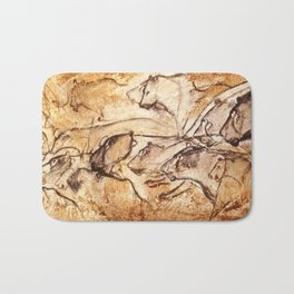 Panel of Lions // Chauvet Cave Bath Mat