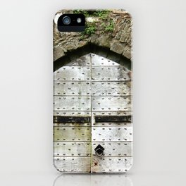 Caerphilly Castle Gate iPhone Case