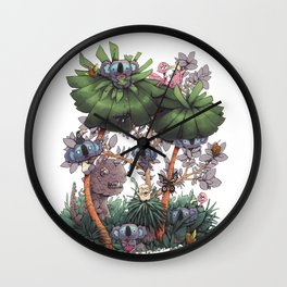 The Kiwis and Koalas Wall Clock