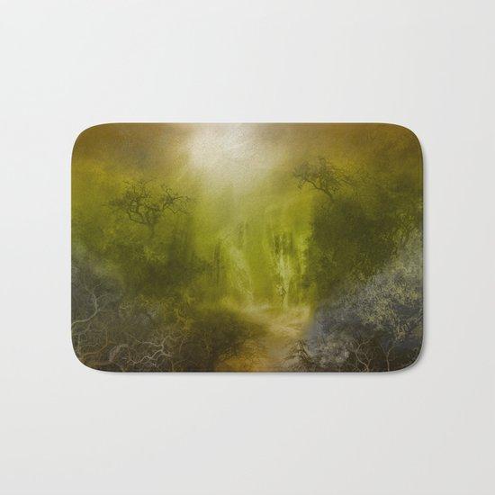 gold forest landscape Bath Mat