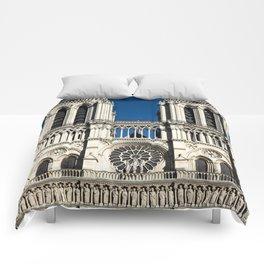 Cathédrale Notre-Dame de Paris - Detail II (Facade) Comforters