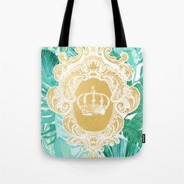Tropical Leaf Crown Tote Bag