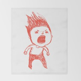 Angry Guy Throw Blanket