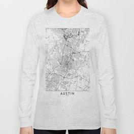 Austin White Map Long Sleeve T-shirt