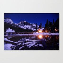 Emerald Lake Log Cabin Canvas Print