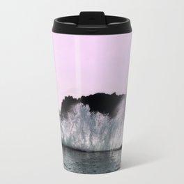 sea water waves pink landscape Travel Mug