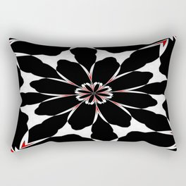 Bizarre Red Black and White Pattern 4 Rectangular Pillow