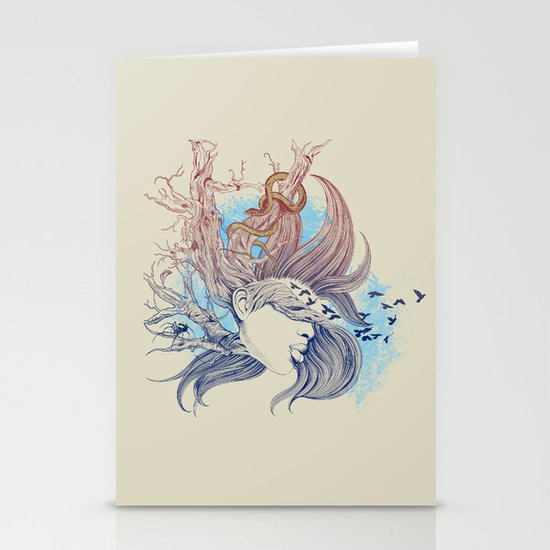 Tree Girl Stationery Cards
