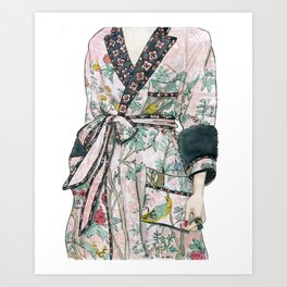 Floral dress Art Print